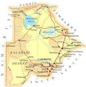 Map-Botswana